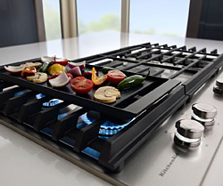 KitchenAid® 36'' 5-Burner Gas Cooktop with Griddle