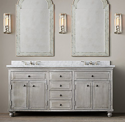 Restoration Hardware Light Zinc Bathroom Collection