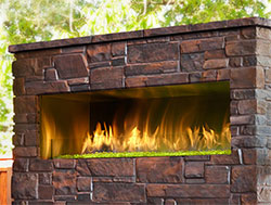 9. A Magnificent Outdoor Fireplace
